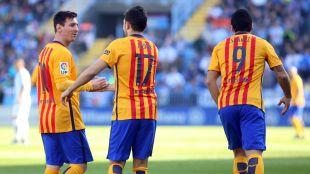 Juanpi, en el Málaga, y Munir y Messi, en el FC Barcelona, fueron los goleadores