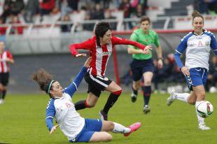 Un lance del partido entre el Athletic y el T. Alcaine ZGZ.
