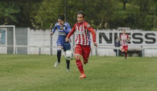 Sonia Bermúdez marcó uno de los cuatro goles que le dieron la victoria a su equipo ante el Oiartzun.
