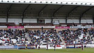 Más de 3.000 espectadores acudieron al F. Albacete - Rayo disputado en el Carlos Belmonte.
