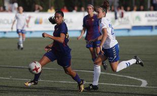 Andressa Alves marcó dos de los nueve goles blaugranas.