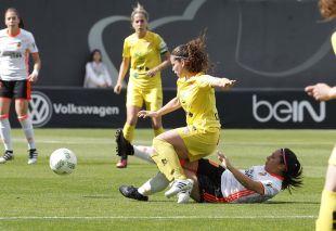 Un lance del partido entre el VCF Femenino y el Santa Teresa CD.