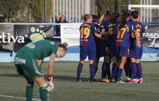El FC Barcelona debutó con goleada, 0-9, al Zaragoza CFF.