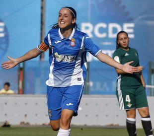 Paloma Fernández anotó el único gol de la victoria del Espanyol.