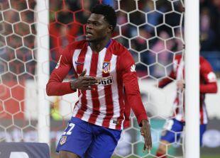 Thomas Partey celebra su gol ante el Levante UD.
