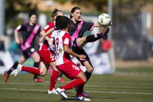Sheila marcó el primero de los dos tantos que le dieron al victoria al Rayo ante el Santa Teresa.