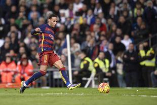 R. Madrid - FC Barcelona. Gol de Neymar 0-2