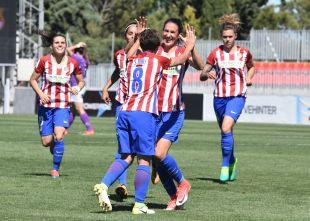 El Atlético celebra el primer gol de Soni.