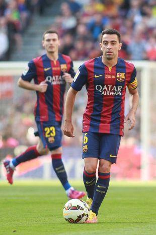 Xavi jugó como titular su último choque liguero en el Camp Nou