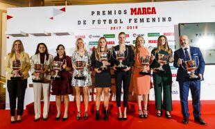 Todos los premiados de la gala de los Premios Marca de Fútbol Femenino