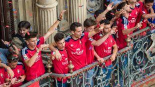 Celebración ascenso Osasuna.