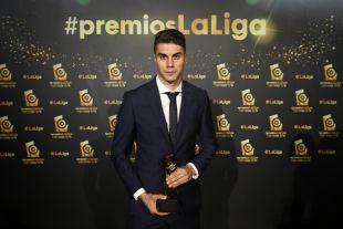 José Naranjo (RC Celta) logró el trofeo a 'Jugador Revelación de LaLiga 1l2l3' por su actuación la pasada campaña con el Nàstic