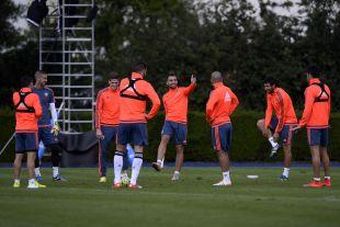 Buen ambiente en la primera sesión del equipo en Alemania.