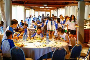 Los participantes del Campus LaLiga, durante su semana de actividades.