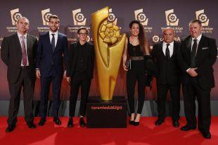 Representantes del Oiartzun y del Granadilla en la alfombra roja de la Gala de los Premios LaLiga