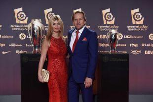 Bernd Schuster protagonizó uno de los momentos más glamurosos de la alfombra roja