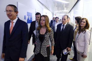 Ana Muñoz, Directora General de Deportes del CSD, acompañó a Javier Tebas durante el acto