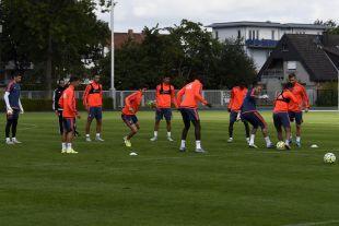 El equipo se ejercitó con la intensidad habitual para preparar el partido ante el FC Porto.