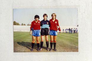 Ana Ruiz con la selección española.