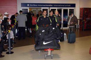 Llegada a Buenos Aires, tras el vuelo desde Colombia.