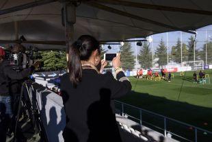 Yanfei fue recibida por el Atlético Madrid