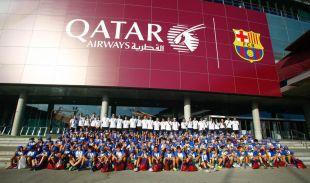 Los niños también disfrutaron de una visita al Camp Nou