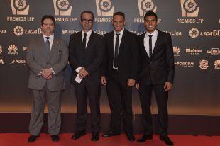 La delegación del CD Tenerife en la alfombra roja del pasado año