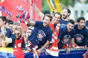 El Atlético disfrutó de una gran celebración que comenzó en el estadio Vicente Calderón.