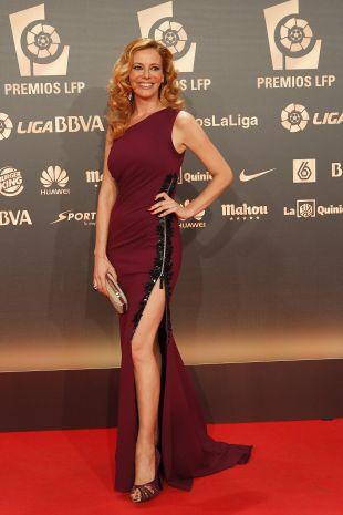 La presentadora Paula Vázquez, en la 'Gala de los Premios LFP 2014'