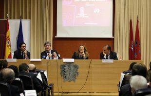 Manuel Quintanar, Miguel Cardenal, Sonia Gumpert y Javier Tebas presidieron el acto