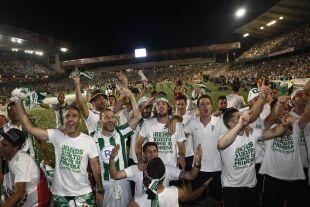 La felicidad era evidente en los rostros de los futbolistas blanquiverdes