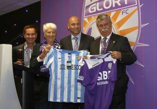 El equipo malagueño se enfrentó en el primero de sus encuentros al Perth Glory FC.