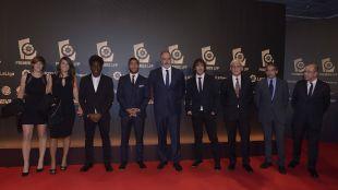 La delegación del FC Barcelona, en la alfombra roja en 'Gala de los Premios LFP 2014'