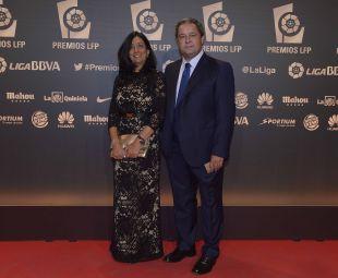 El presidente del RC Deportivo Constantino Fernández, en la 'Gala de los Premios LFP 2014'