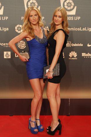Raquel González y una acompañante en la 'Gala de los Premios LFP 2014'