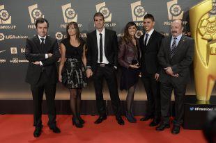 La delegación del SD Eibar en la alfombra roja de la 'Gala de los Premios LFP 2014'