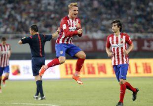 Griezmann celebra uno de sus goles.