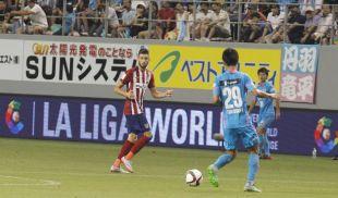 El estreno del Atlético en la gira LFP World Challenge fue ante el Sagan Tosu japonés.