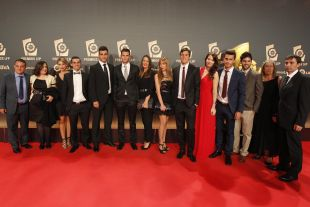 Representantes del CD Leganés en la alfombra roja de la 'Gala de los Premios LFP 2014'