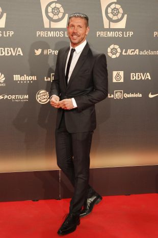 Diego Simeone, nominado a Mejor Entrenador de la Liga BBVA 2013-14, en la alfombra roja
