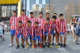 Shanghai se vistió de rojiblanco para recibir al Atlético