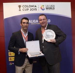 Fernando Sanz y Philipp Groethe, del grupo Sport&Media Entertainment