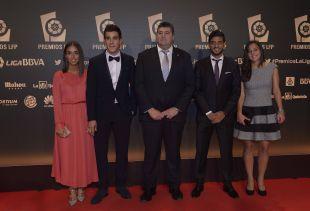 Representantes de la Real Sociedad en la 'Gala de los Premios LFP 2014'