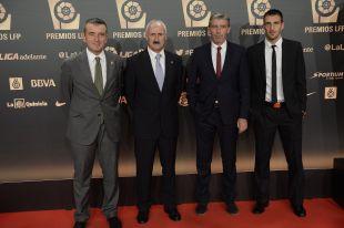 La delegación del R. Racing C. en la alfombra roja