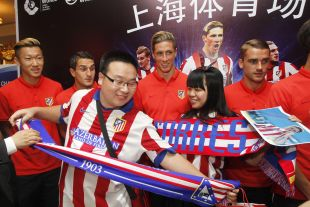 Seguidores de Atlético en China