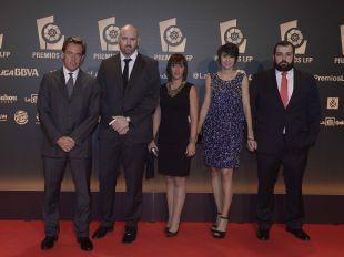 Representantes del Girona FC en la alfombra roja