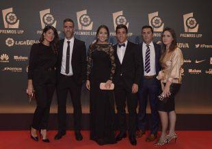Representantes del Córdoba CF en la alfombra roja de la   'Gala de los Premios LFP 2014'