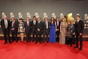 Representantes del CD Numancia en la alfombra roja de la 'Gala de los Premios LFP 2014'