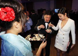Delegación de empresarios chinos en la 'Gala de los Premios LFP 2014'