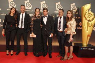 Abel Gómez (Córdoba CF) y Pedro Sánchez (R. Zaragoza), en la 'Gala de los Premios LFP 2014'